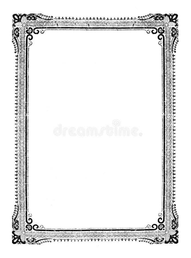 Disegno d'annata di vettore o incisione della progettazione ornamentale decorativa antica classica della struttura illustrazione vettoriale