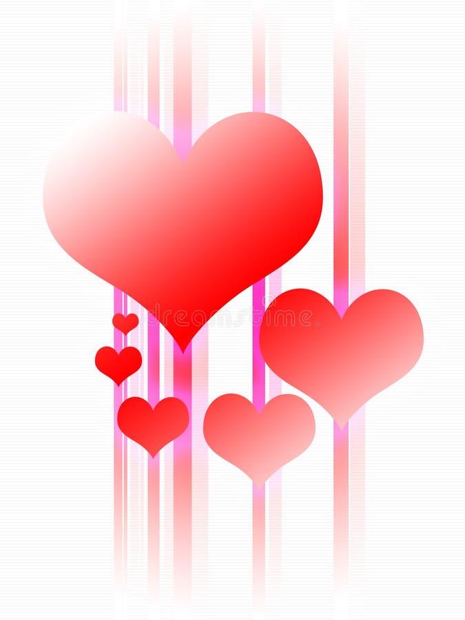 Disegno d'ardore del cuore illustrazione vettoriale