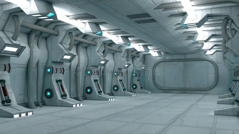 Interno futuristico illustrazione vettoriale