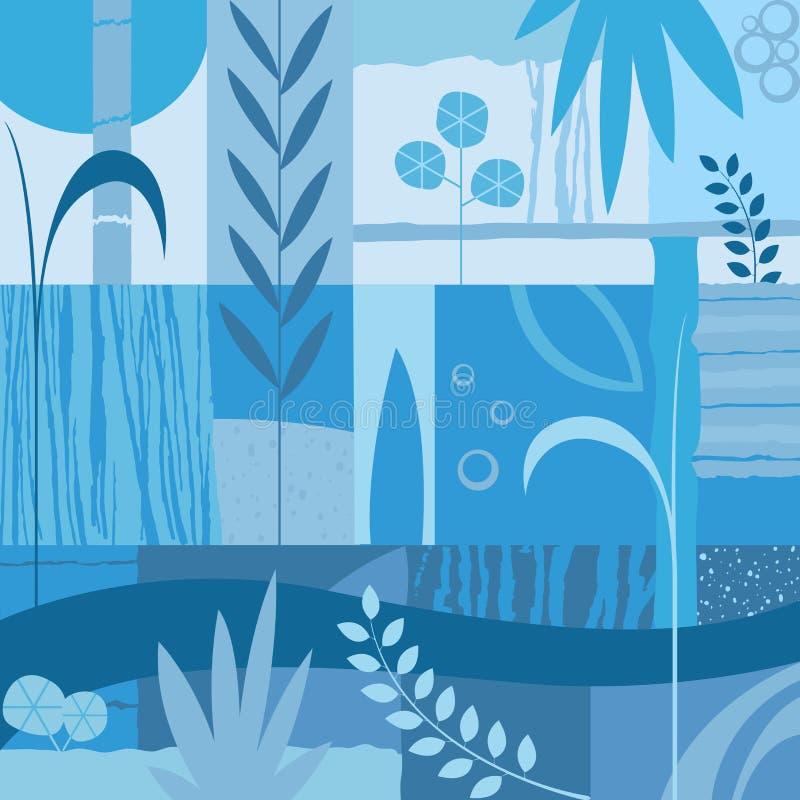 Disegno decorativo con le piante illustrazione vettoriale