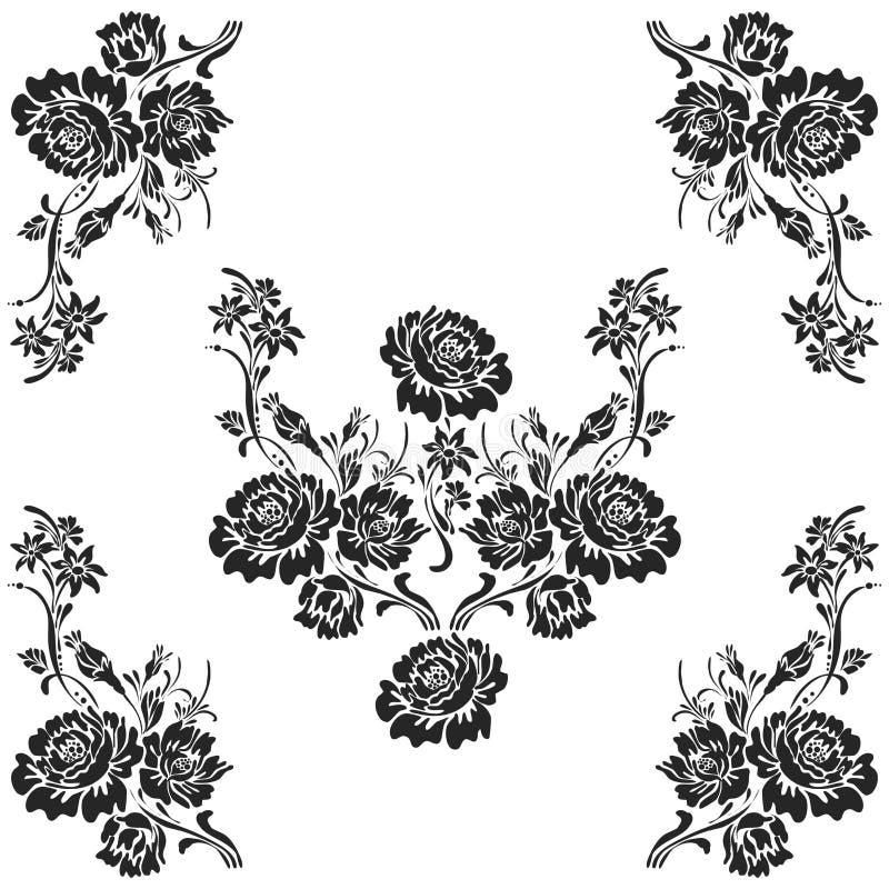 Disegno decorativo del reticolo degli elementi royalty illustrazione gratis