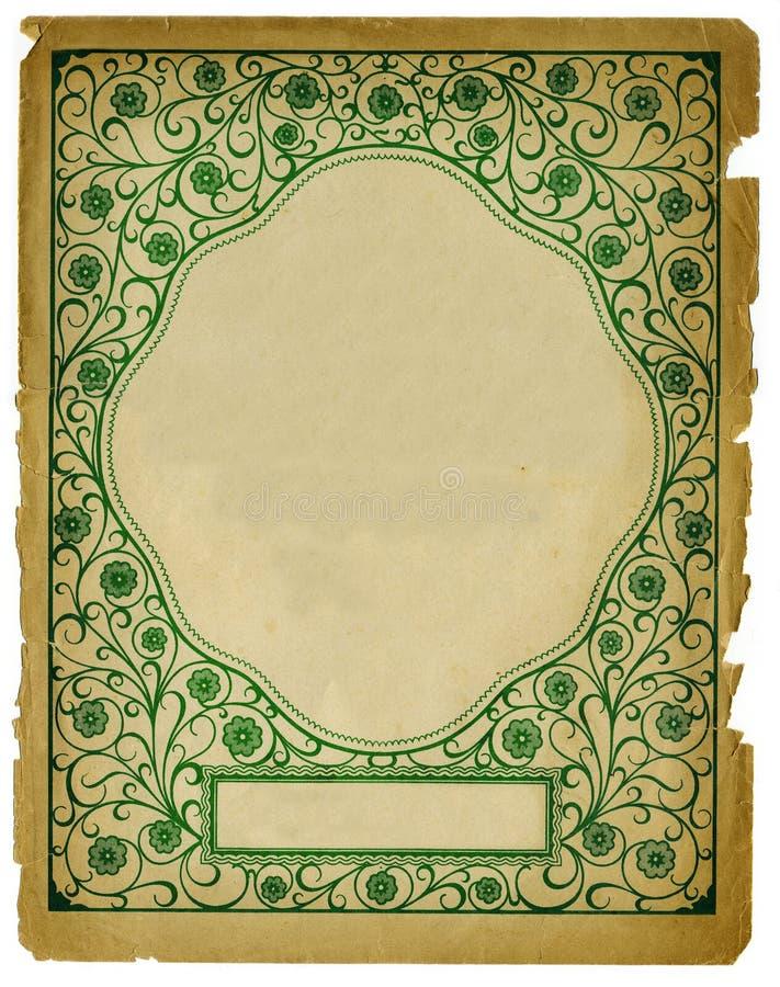 Disegno decorativo della priorità bassa dell'annata su vecchio documento fotografia stock