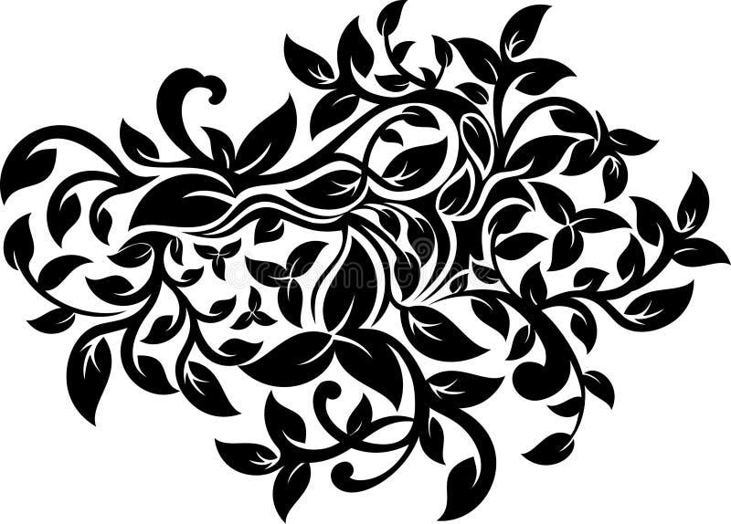 Disegno decorato floreale illustrazione di stock