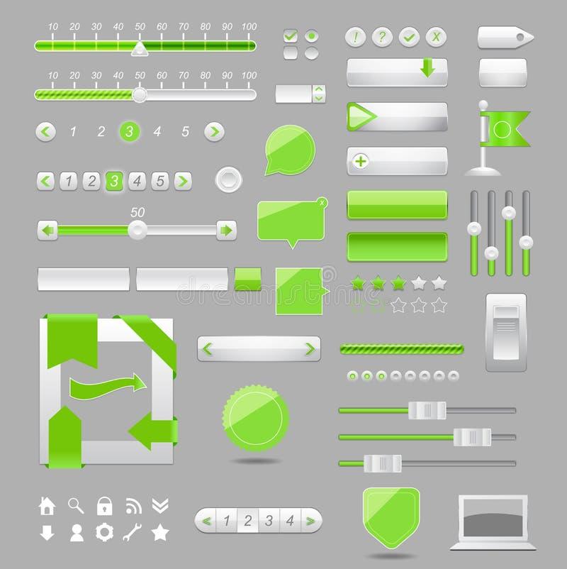 Disegno degli elementi di Web illustrazione vettoriale