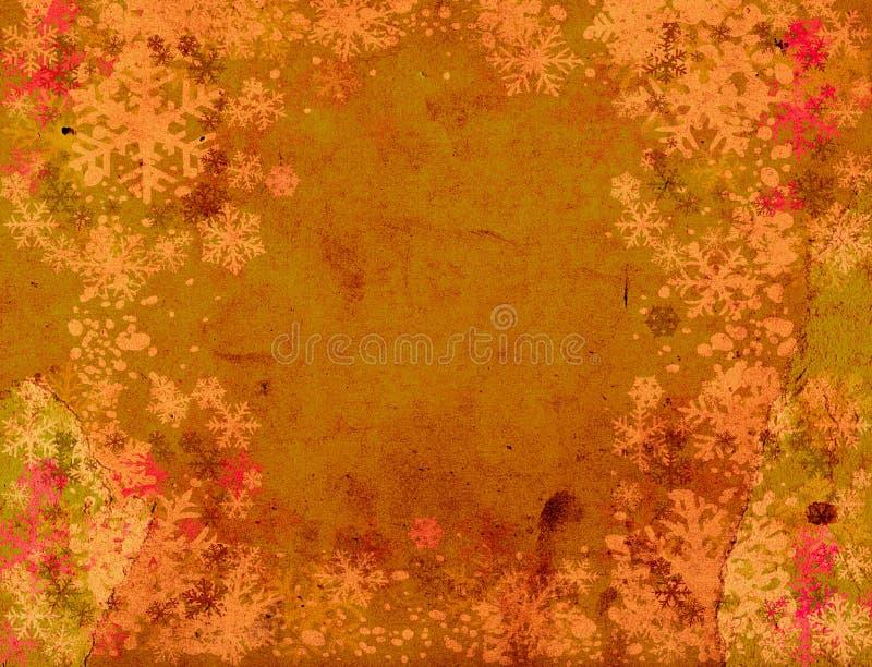 Disegno degli snoflakes di Grunge illustrazione vettoriale