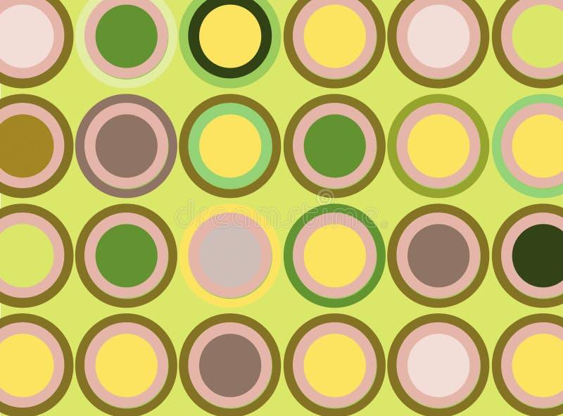 Disegno dei cerchi illustrazione vettoriale