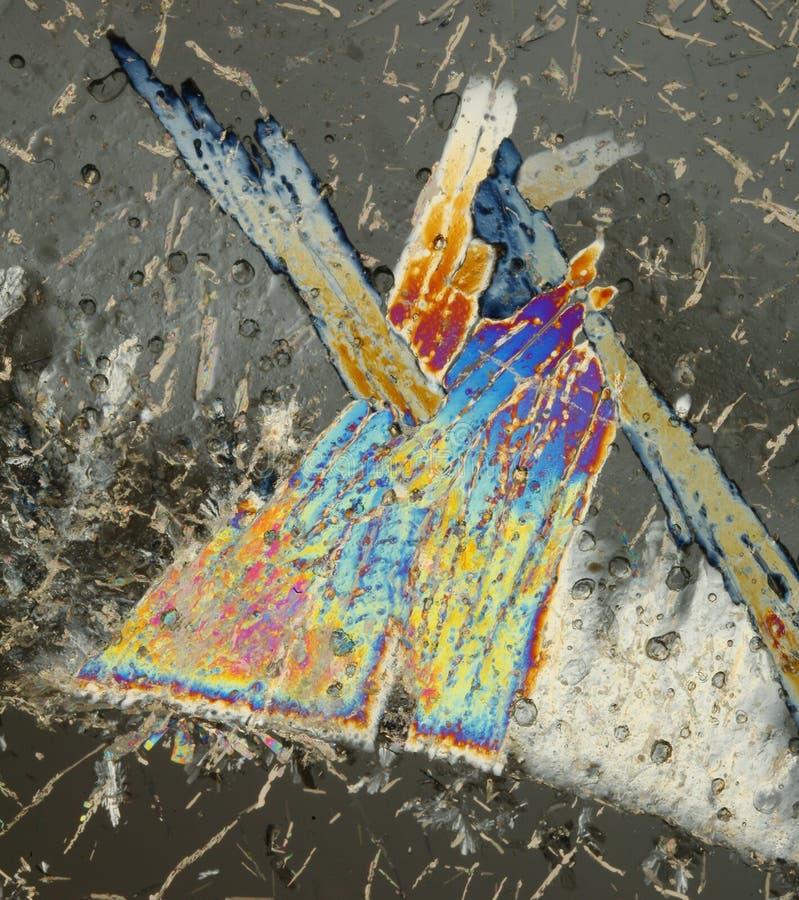 Disegno dei cristalli di ghiaccio fotografia stock