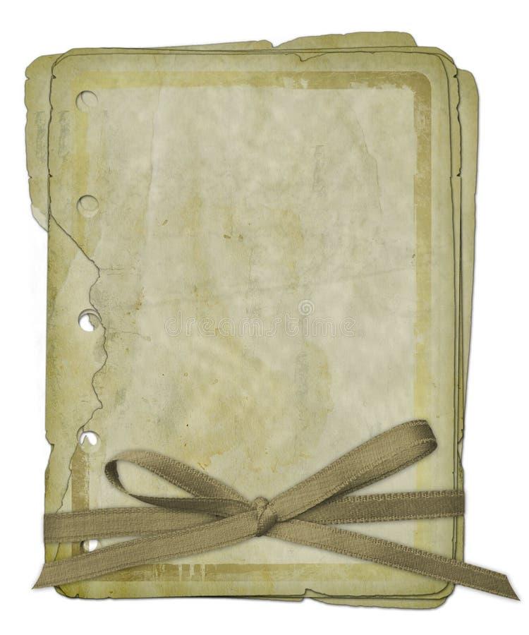 Disegno dei documenti di Grunge nello stile scrapbooking illustrazione di stock