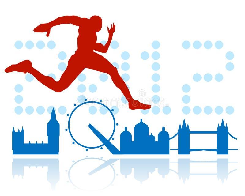 Disegno dei Giochi Olimpici di Londra illustrazione di stock