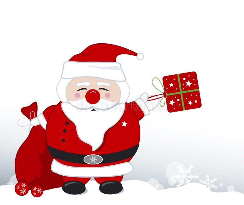 Disegno del Babbo Natale illustrazione di stock