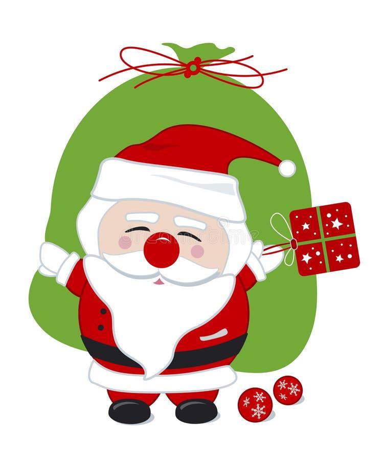 Disegno del Babbo Natale illustrazione vettoriale