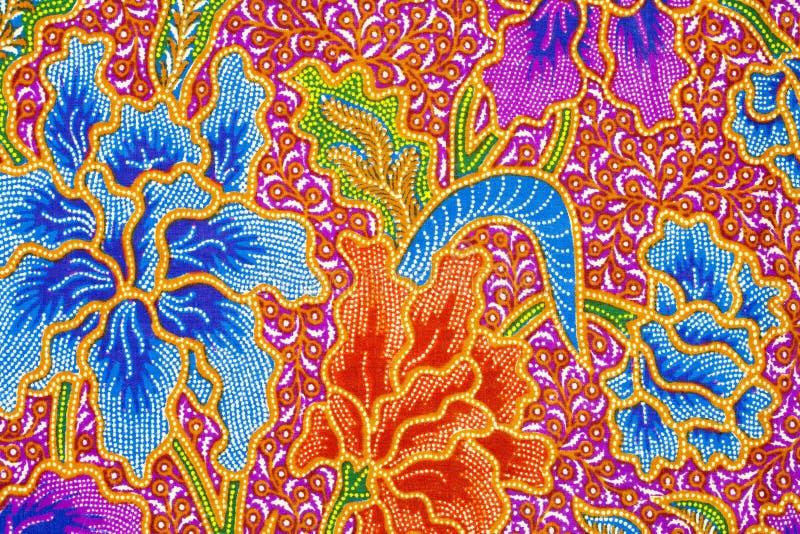 Disegno del batik fotografia stock