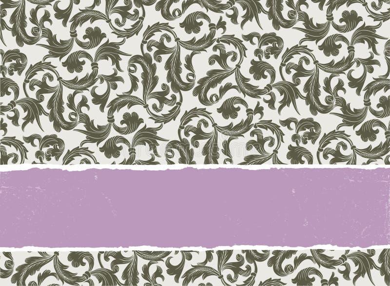 Disegno del blocco per grafici dell'annata del modello per la cartolina d'auguri. royalty illustrazione gratis