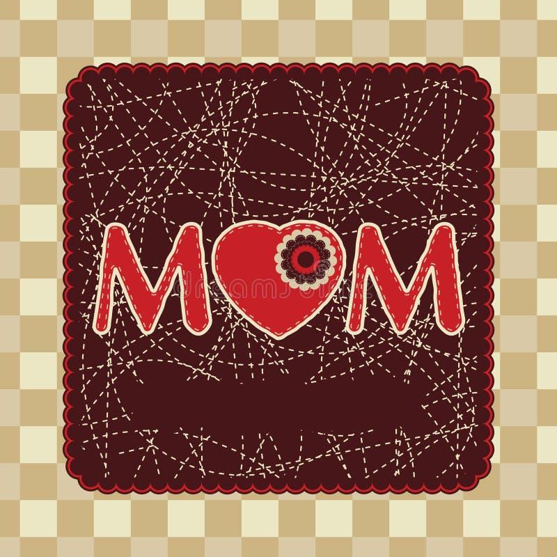 Disegno del blocco per grafici dell'annata per il giorno di madre. ENV 8 illustrazione di stock