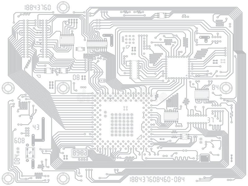 Disegno del computer di vettore del circuito - elettronico royalty illustrazione gratis