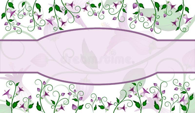 Disegno del contrassegno del fiore illustrazione di stock