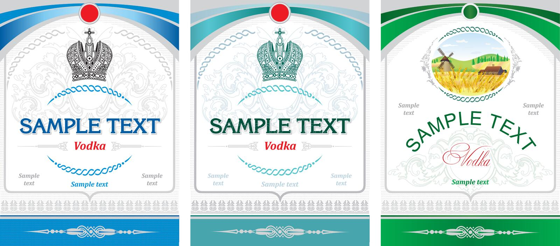 Disegno del contrassegno - vodka royalty illustrazione gratis