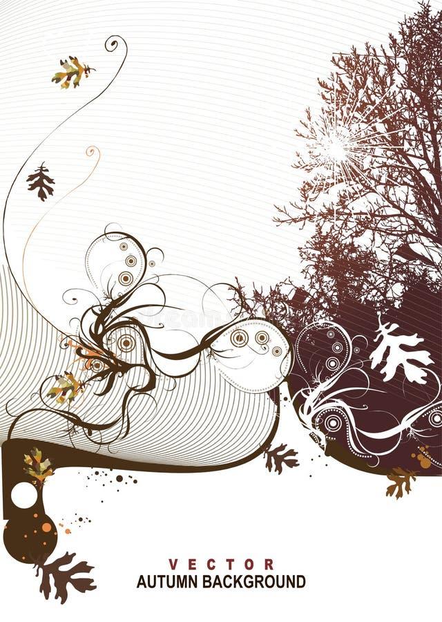 Disegno del coperchio di scena della natura illustrazione di stock