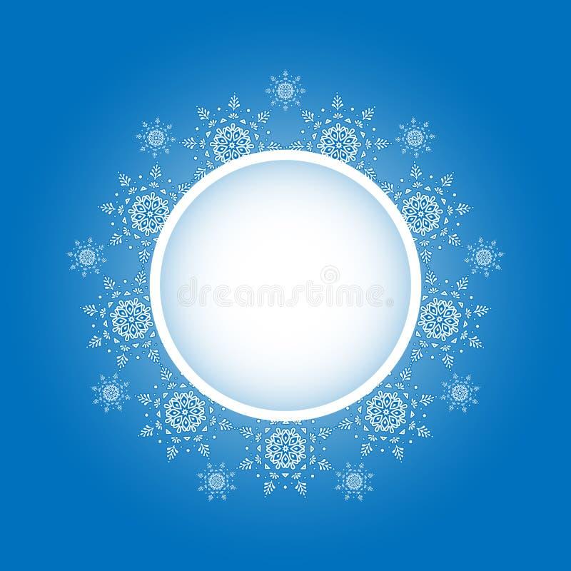 Disegno del fiocco di neve Priorità bassa della pagina Illustrazione di vettore Modello di vettore di inverno Progettazione grafi illustrazione di stock