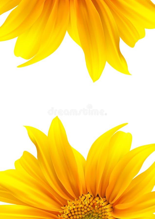 Disegno del fiore della disposizione dell'opuscolo illustrazione di stock