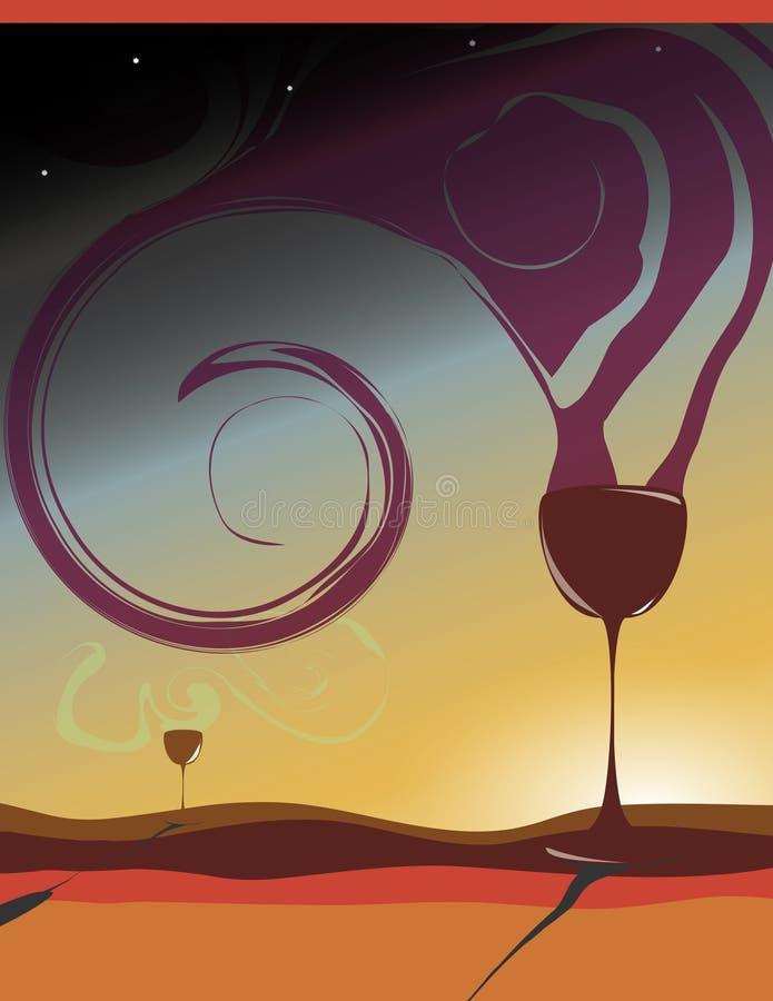 Disegno del manifesto e dell'aletta di filatoio del vino illustrazione di stock