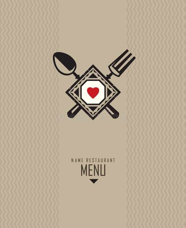 Disegno del menu del ristorante illustrazione di stock