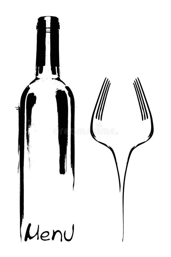 Disegno del menu del ristorante royalty illustrazione gratis