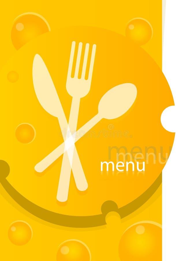 Disegno del modello del menu illustrazione vettoriale