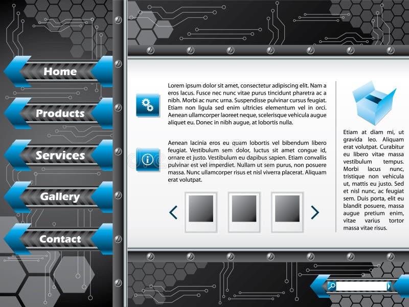 Disegno del modello di Web di tecnologia illustrazione di stock