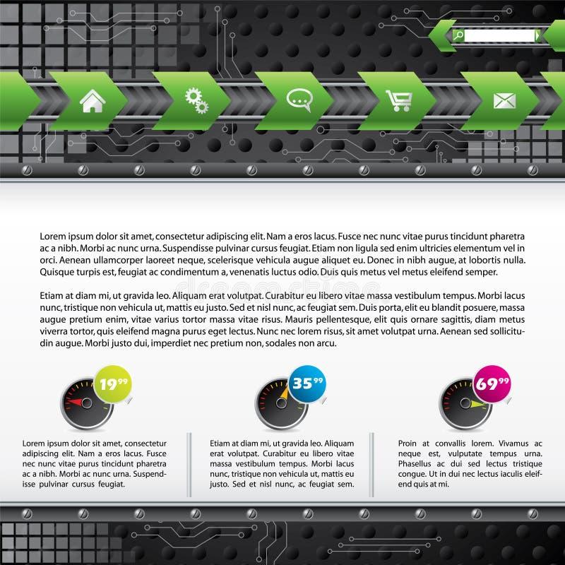 Disegno del modello di Web di tecnologia con i dispositivi royalty illustrazione gratis