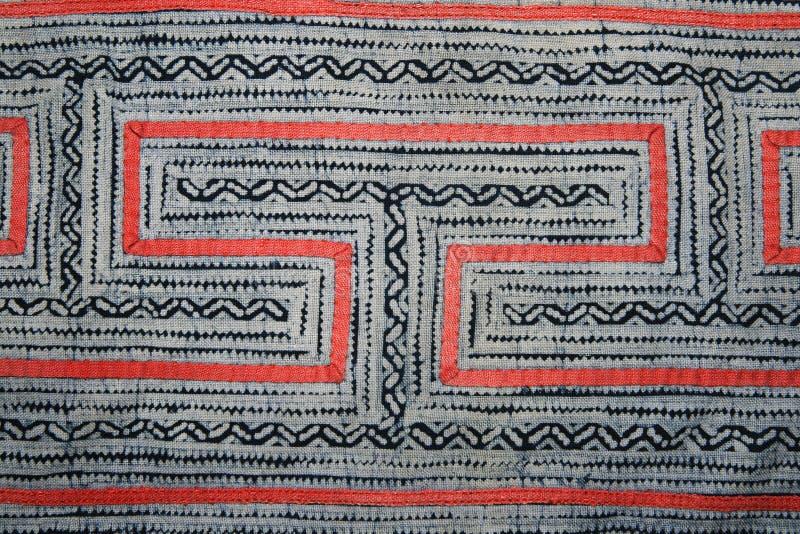 Disegno del panno del batik dell'indaco immagine stock