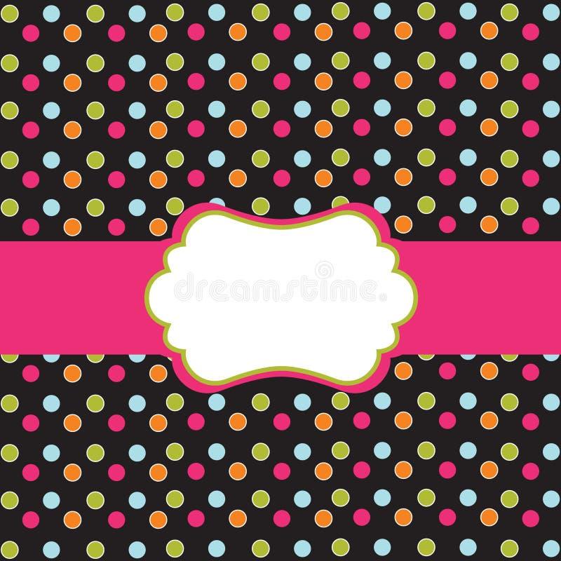 Disegno del puntino di Polka con il blocco per grafici illustrazione di stock