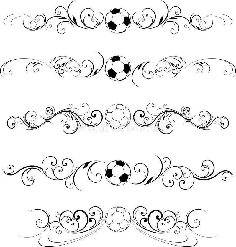 Disegno del rotolo di calcio royalty illustrazione gratis