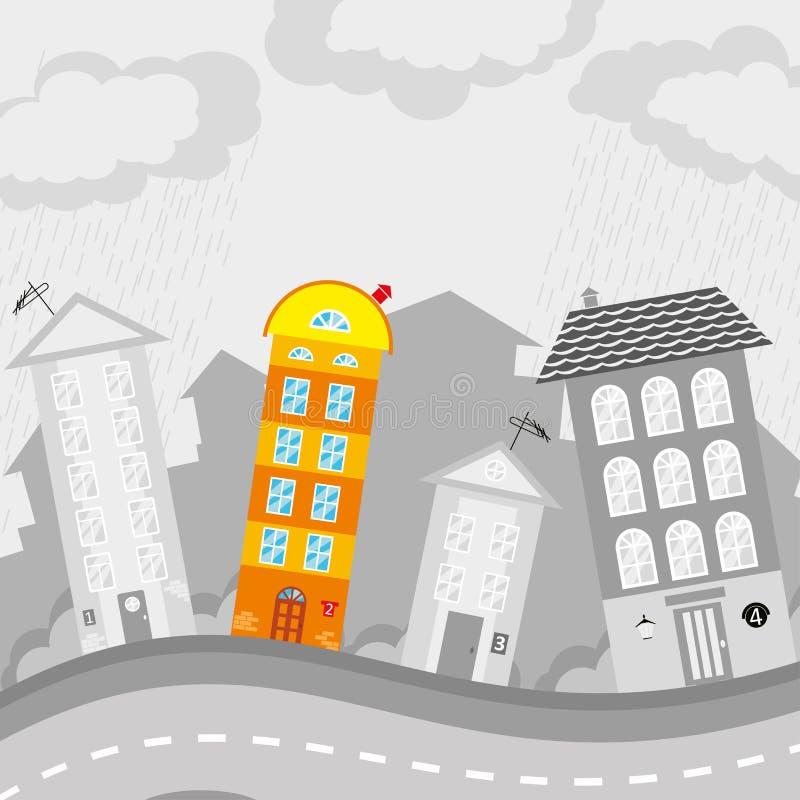Disegno del ` s dei bambini della città royalty illustrazione gratis