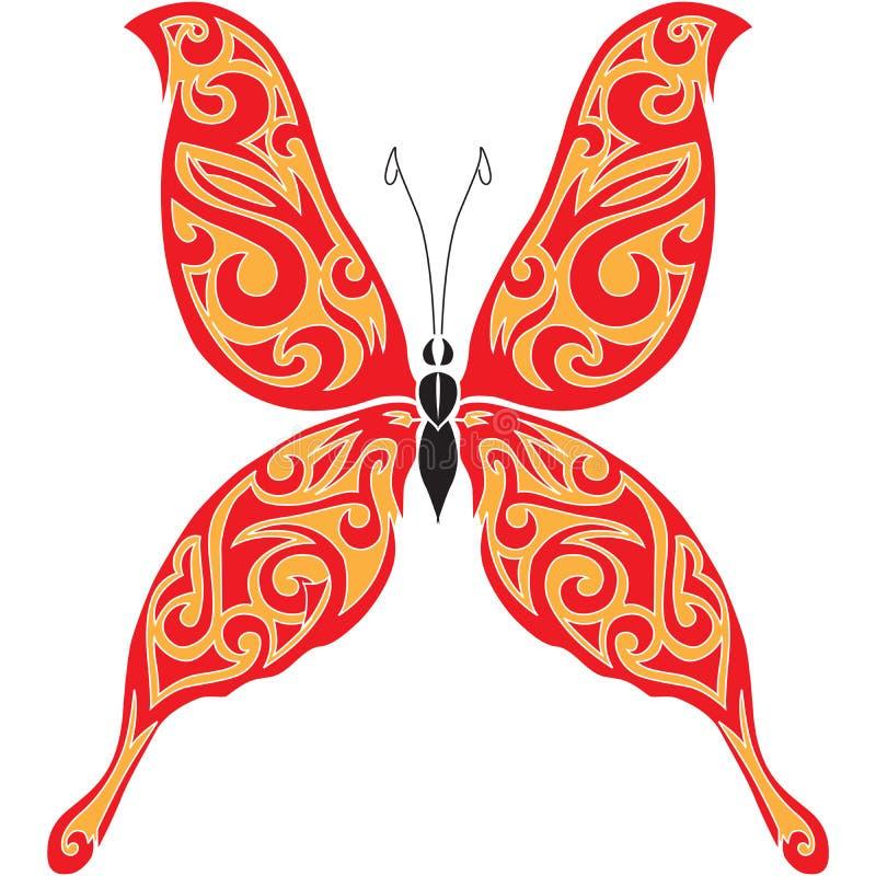Disegno del tatuaggio della farfalla royalty illustrazione gratis
