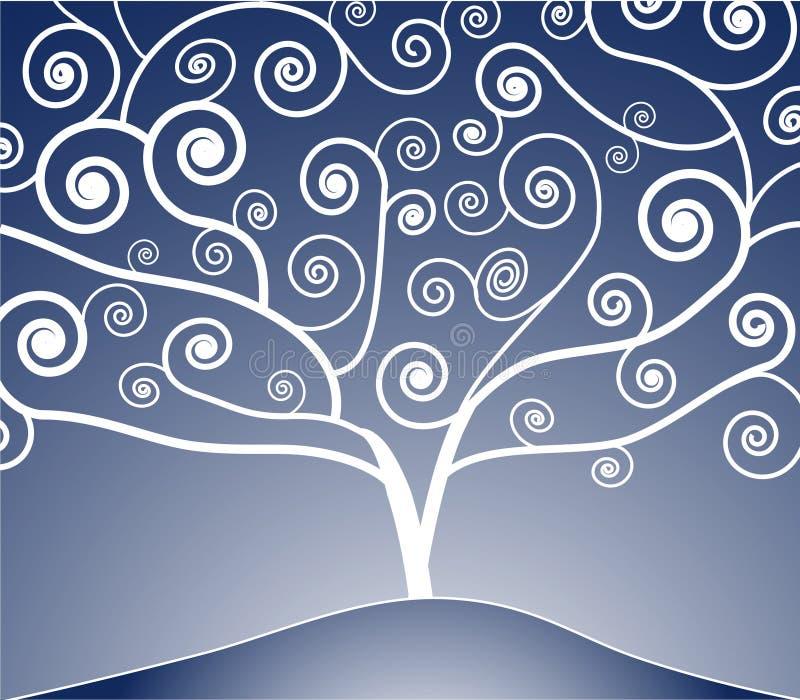 Disegno dell'albero illustrazione vettoriale