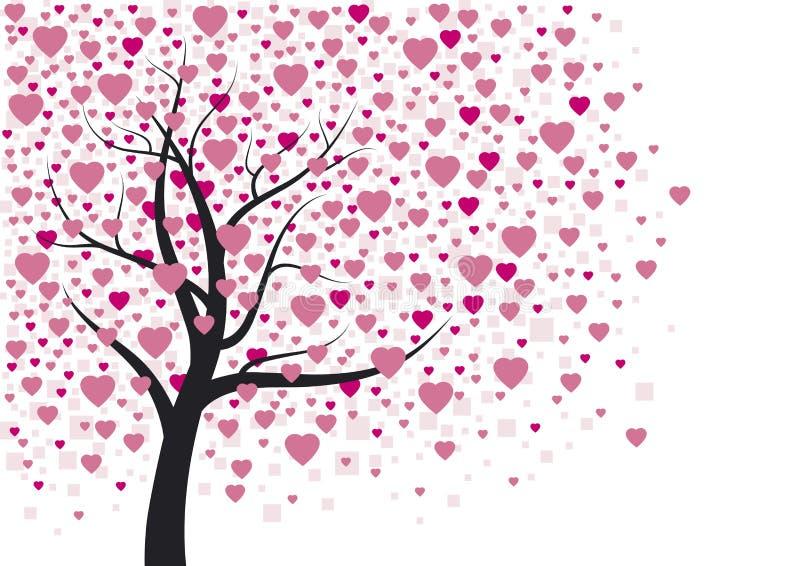 Disegno dell'albero del cuore royalty illustrazione gratis
