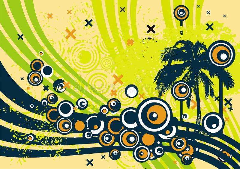 Disegno dell'albero di Grunge illustrazione di stock