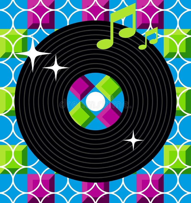 Disegno dell'album di musica illustrazione vettoriale