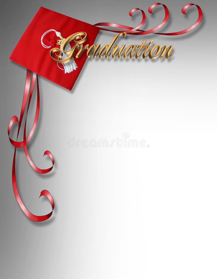 Disegno dell'angolo della scheda o dell'invito di graduazione royalty illustrazione gratis