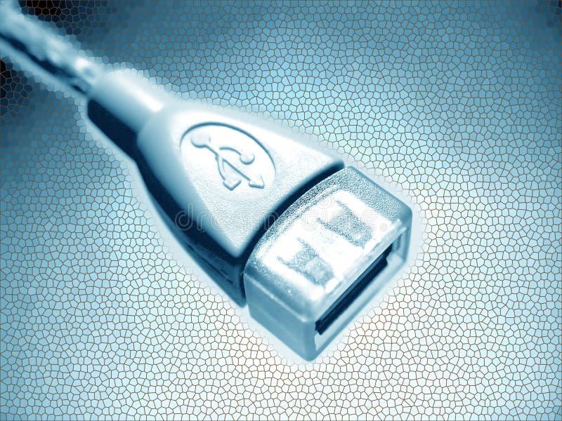 Disegno Dell Estratto Del USB Fotografia Stock