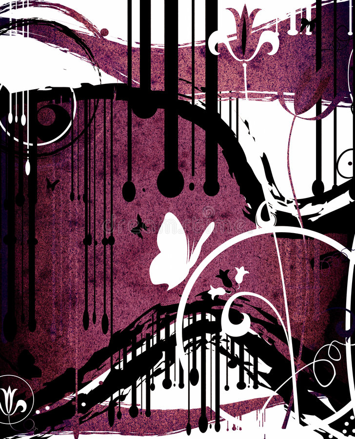 Disegno dell'estratto di Grunge illustrazione vettoriale
