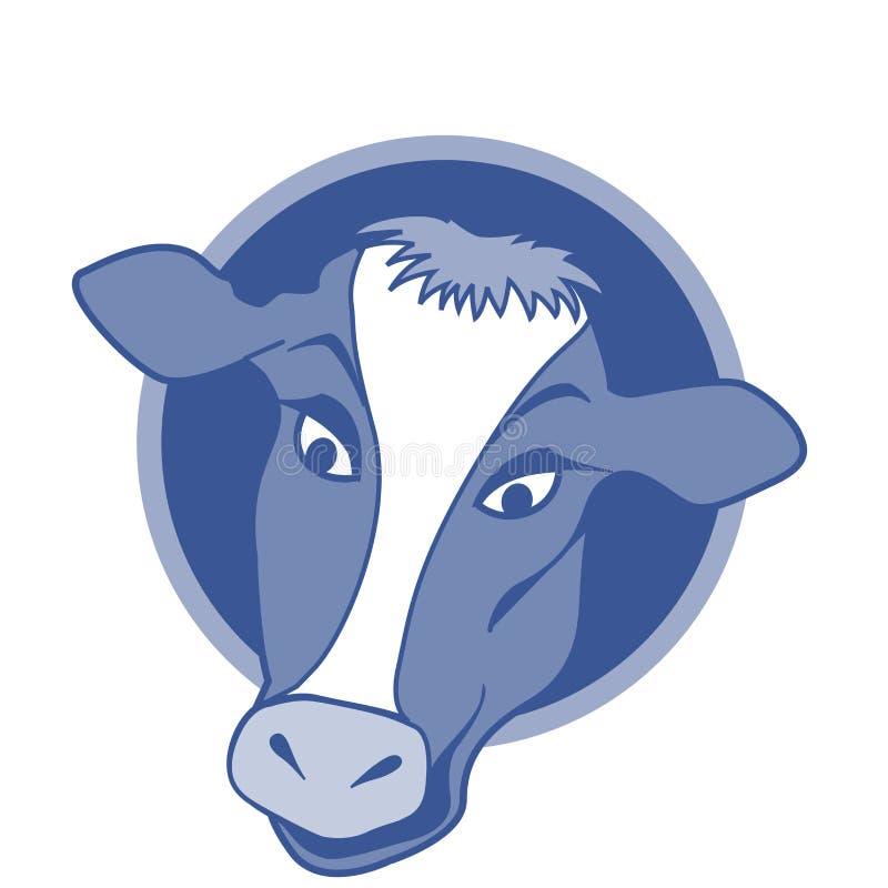 Disegno dell'icona della mucca immagine stock libera da diritti