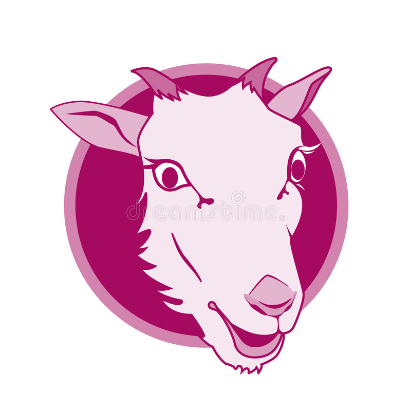 Disegno dell'icona delle pecore immagini stock