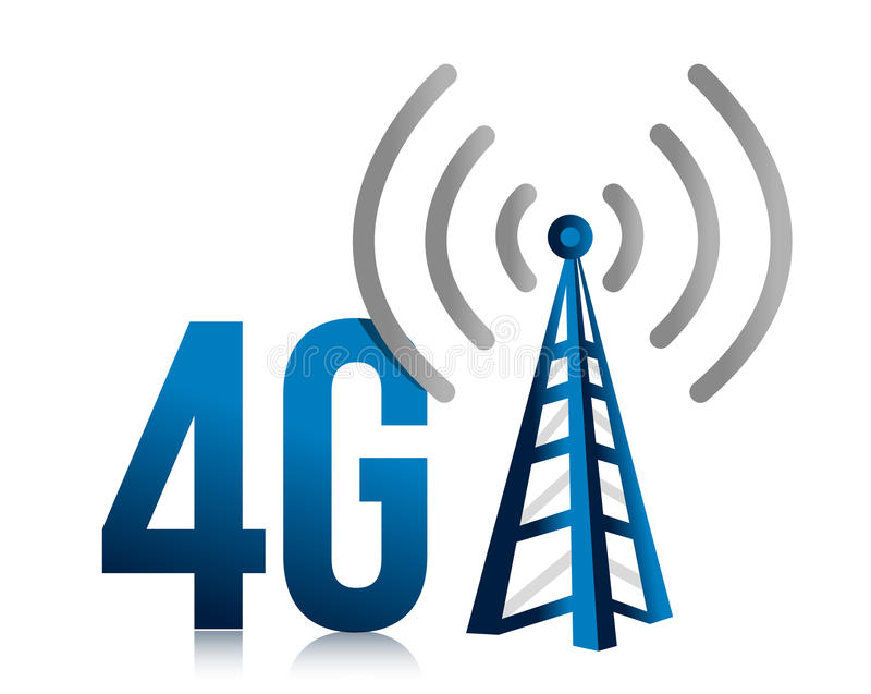 disegno dell'illustrazione del collegamento della torretta di velocità 4G royalty illustrazione gratis