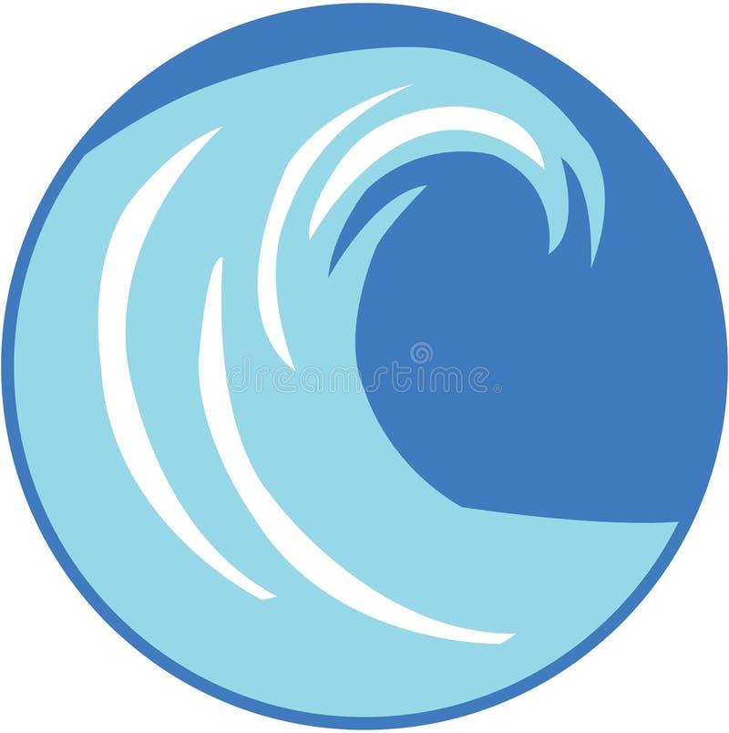 disegno dell'onda illustrazione vettoriale