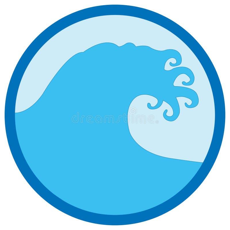 Disegno dell'onda illustrazione di stock