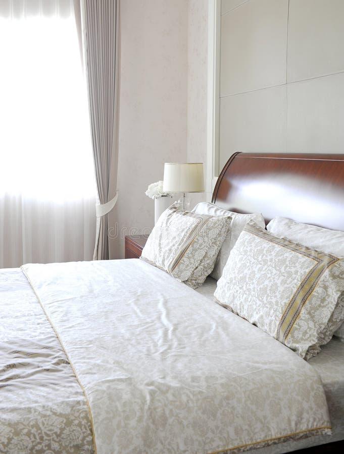 Disegno della camera da letto di legno fotografia stock libera da diritti