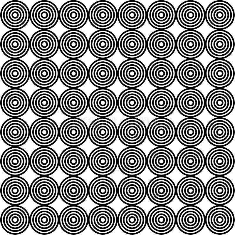 Disegno della carta da parati dell'anello nero illustrazione vettoriale