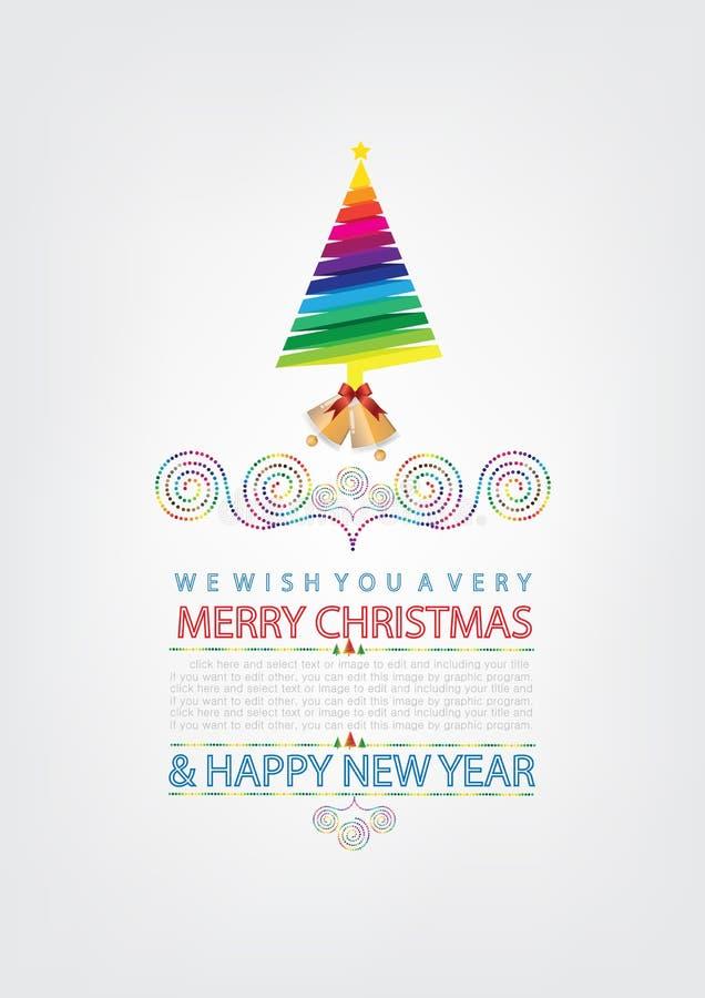 Download Disegno Della Cartolina D'auguri Di Natale Illustrazione Vettoriale - Illustrazione di festa, verde: 56882762